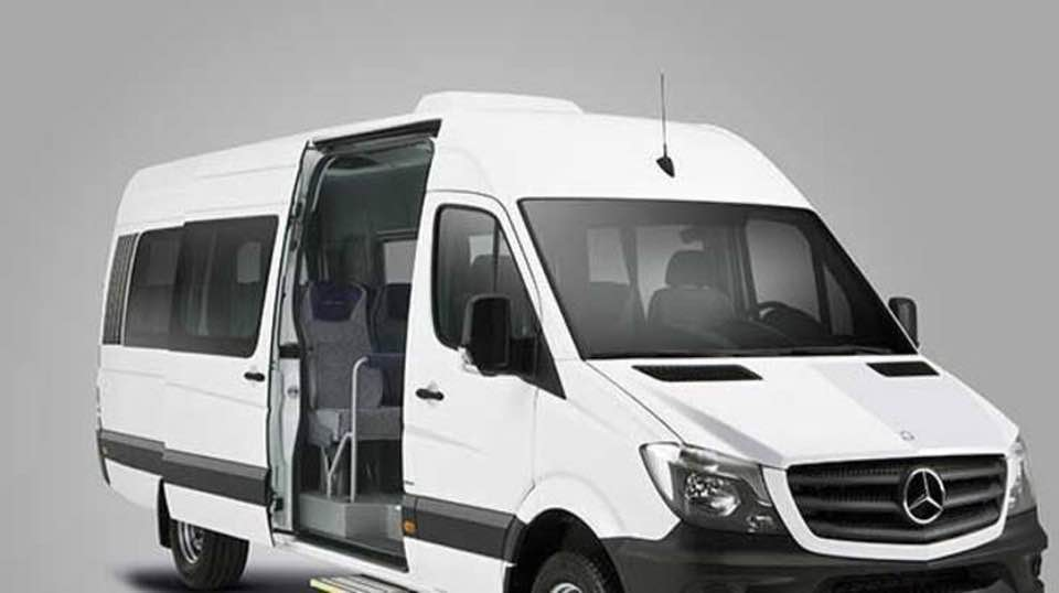 The capacity of this vehicle is 1-14 people..In this vehicle option, we have free water– Wifi – TV -Music- Baby Seat -Booster services
